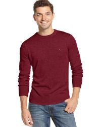 Tommy Hilfiger Signature Solid Crew-neck Sweater - Lyst