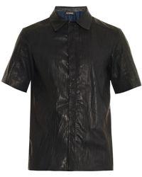 Jil Sander Enigma Creased-Leather Shirt - Lyst