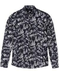 Versus  Long Sleeve Shirt black - Lyst