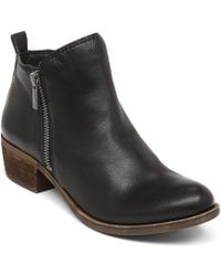 Lucky Brand Basel Leather Ankle Booties - Lyst