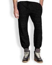 Diesel Black Marled Sweatpants - Lyst
