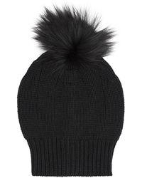 Harrods - Pom Pom Cashmere Beanie Hat - Lyst