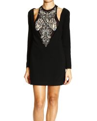 John Richmond Dress Long Sleeves Cady with Embrodery - Lyst