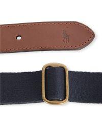 Ralph Lauren Icon Canvas Belt - Lyst