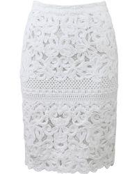 Ermanno Scervino   Lace Pencil Skirt   Lyst