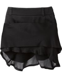 Haider Ackermann Tiered Mini Skirt black - Lyst