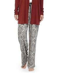 Hanro Universe Of Floral-print Pants - Lyst