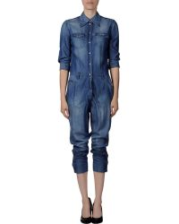 Dolce & Gabbana Blue Pant Overall - Lyst