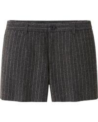 Uniqlo Women Wool Blended Flannel Shorts - Lyst