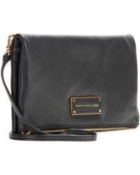 Marc By Marc Jacobs Foldover Leather Clutch - Lyst