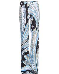 Emilio Pucci Printed Widel Leg Trousers - Lyst