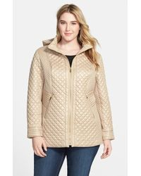 Via Spiga Front-Zip Quilted Jacket with Detachable Hood - Lyst