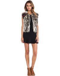 Twelfth Street Cynthia Vincent - Raglan Embellished Faux Fur Vest - Lyst