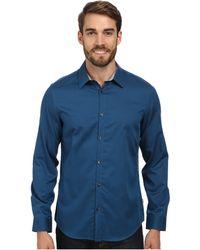 Calvin Klein Yarn Dyed Dobby Woven Shirt - Lyst