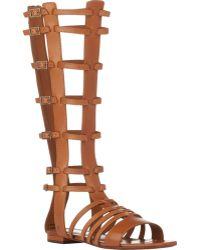 Saint Laurent Strappy Gladiator Sandals - Lyst