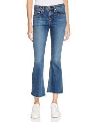 Rag & Bone | Crop Flare Jeans In Paz | Lyst