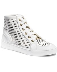 Michael Kors Olivia High-Top Leather Sneaker - Lyst