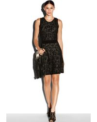 Milly Lace Jacquard Flare Dress - Lyst
