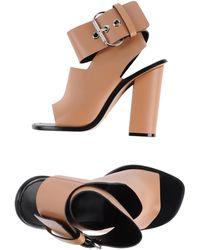 Celine Pink Sandals - Lyst
