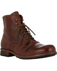 Shoto Brown Wrinkled Boots - Lyst