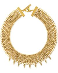 Vince Camuto - Goldtone Mesh Chain Collar Necklace - Lyst