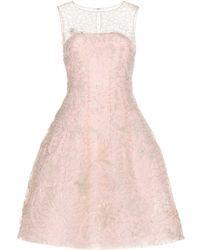 Oscar de la Renta Embroidered Tulle Dress - Lyst
