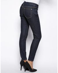 Koral Low Rise Skinny Jean with Zips - Blue