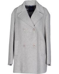 Blue Les Copains Coat - Grey