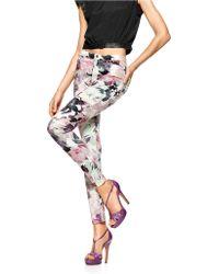 Hue Floral Print Denim Leggings - Lyst