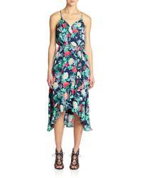 Joie Ruzenza Silk Floral-Print Dress - Lyst