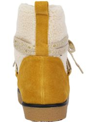 House of Harlow 1960 - 1960 Sadie Pull On Alpine Boots - Mustard - Lyst