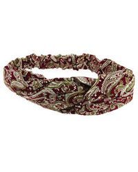 Topshop Paisely Knotted Headband red - Lyst
