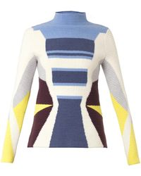 Peter Pilotto Graphicknit Felted Woolblend Sweater - Lyst