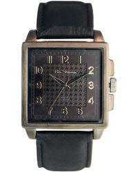 Ben Sherman Black Leather Look Strap Watch Bs029 - Lyst