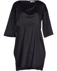Jil Sander Short Dress - Lyst