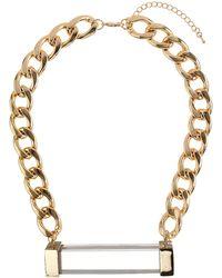 Topshop Mega Tube Necklace - Lyst