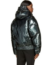 Juun.J Metallic Green Puffer Jacket