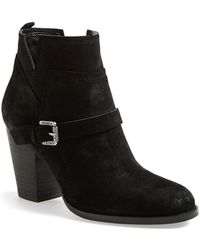Ivanka Trump 'Frankly' Belted Round Toe Bootie - Lyst