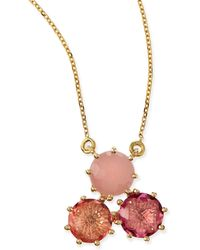 KALAN by Suzanne Kalan - Multi-stone Pink Cluster Pendant Necklace - Lyst