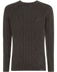 Diesel Cable Knit Jumper - Lyst