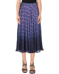 Band of Outsiders | 3/4 Length Skirt | Lyst