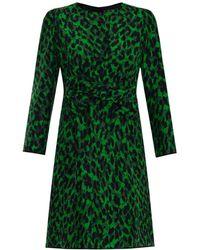Marc Jacobs Leopard-Print Bow-Front Dress - Lyst