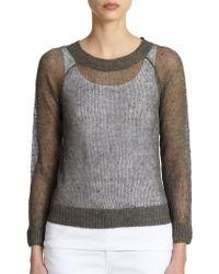 Eileen Fisher Linen & Cotton Open-Knit Sweater - Lyst