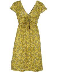 Lavand Short Dress - Yellow
