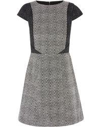 Oasis Bethany Chevron Dress - Lyst