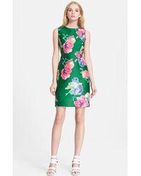 Kate Spade 'Blooms Della' Floral Print Sheath Dress - Lyst