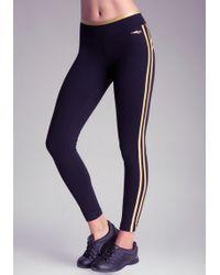 Bebe Iridescent Stripe Leggings - Lyst