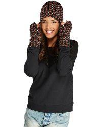 Threads For Thought - Star Print Fingerless Gloves - Lyst