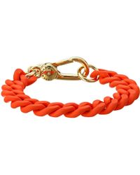 Marc By Marc Jacobs Key Items Rubber Chain Bracelet - Lyst