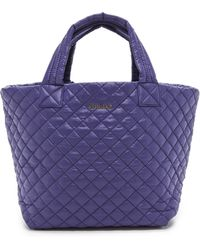 MZ Wallace - Small Metro Tote  Midnight - Lyst